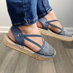 White Mountain embellished espadrille sandal